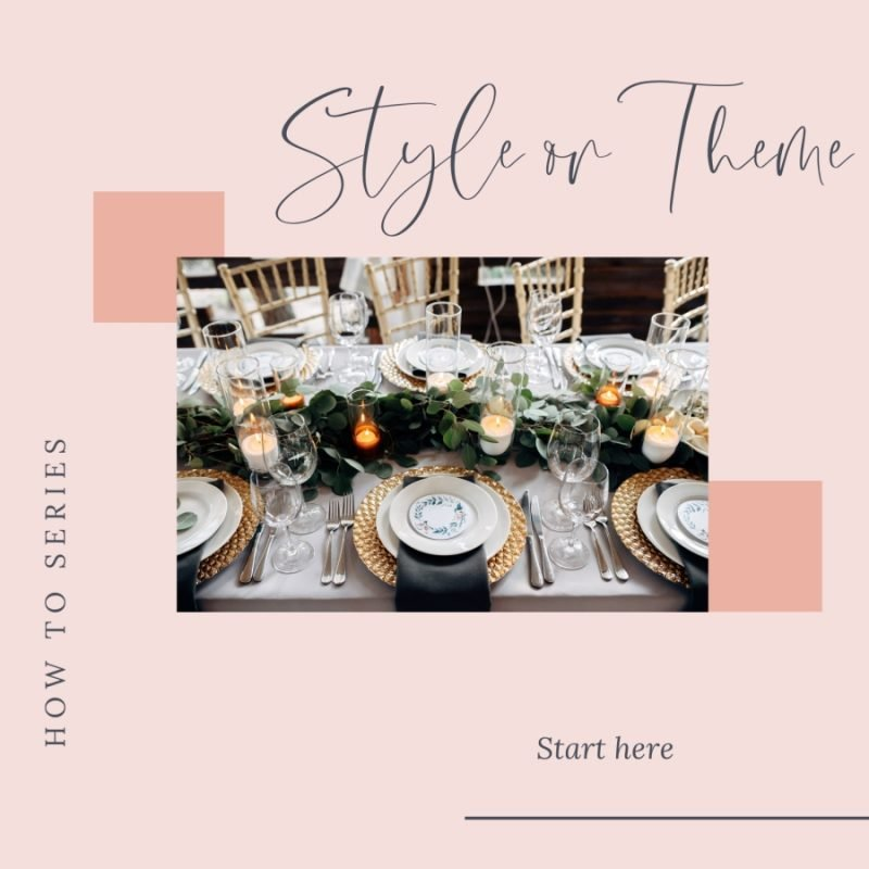 How do I choose a style or theme for my wedding?